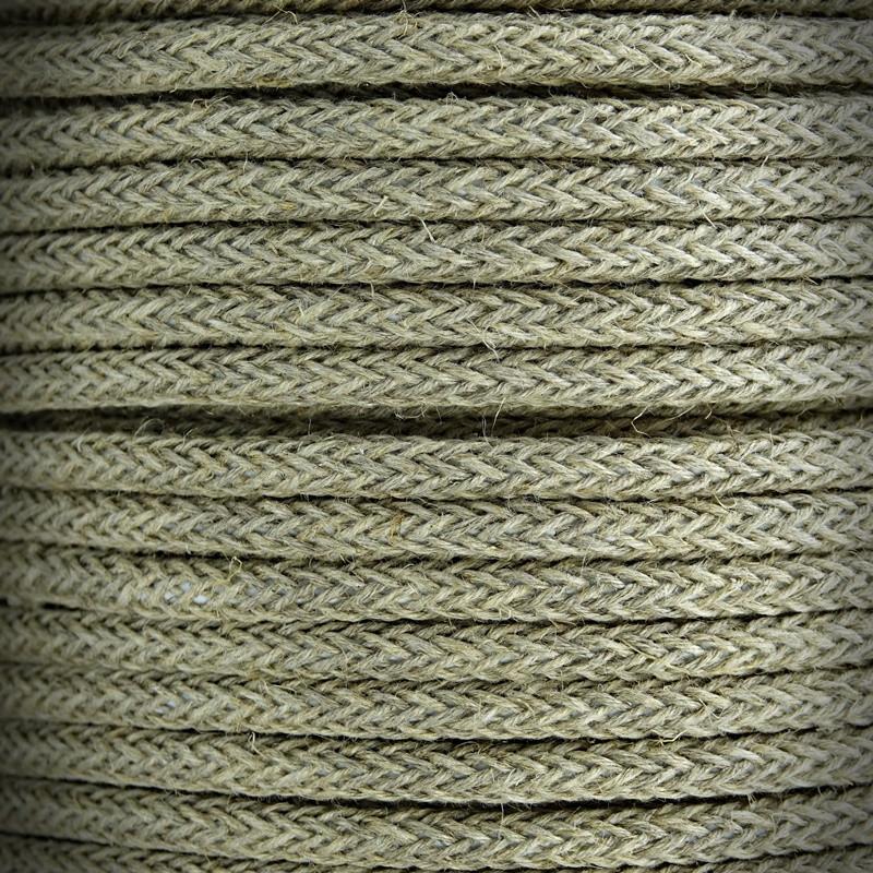 Retro przewód, kabel elektryczny w oplocie lnianym 2x0,75