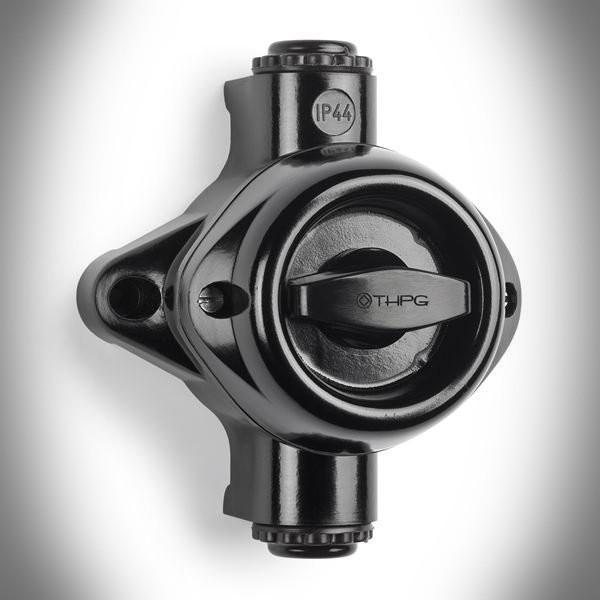 Włącznik światła natynkowy THPG-3 W2 czarny