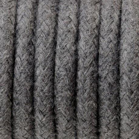 Przewód elektryczy w oplocie bawełnianym bazaltowy