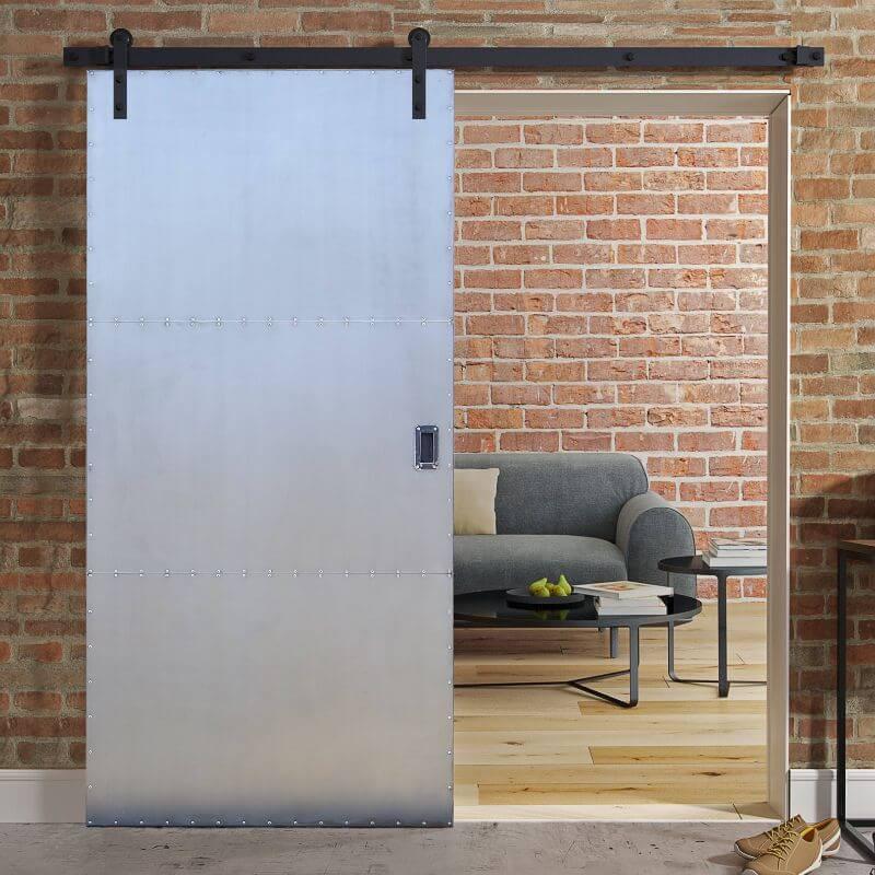 Drzwi przesuwne metalowe INDUSTRIAL DUO dwustronne