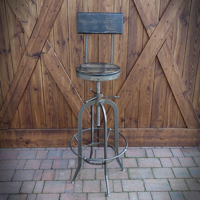 Krzesło barowe, hoker INDUSTRIAL twarde