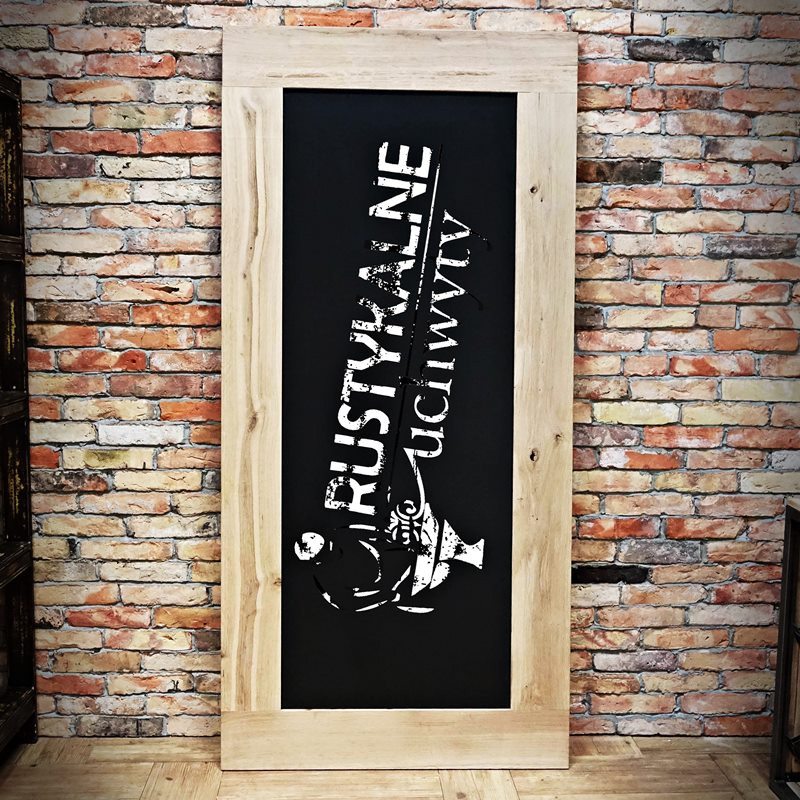 Drzwi dębowe tablica