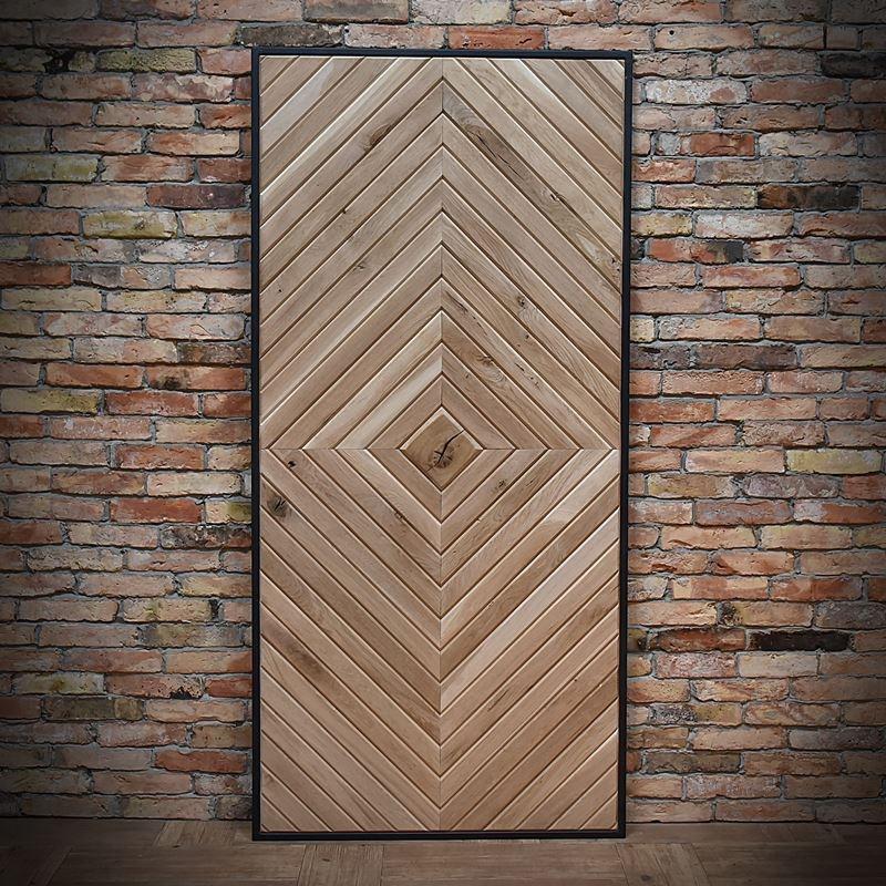 Drzwi dębowe w ramie stalowej FIR-OSTATNIA SZTUKA