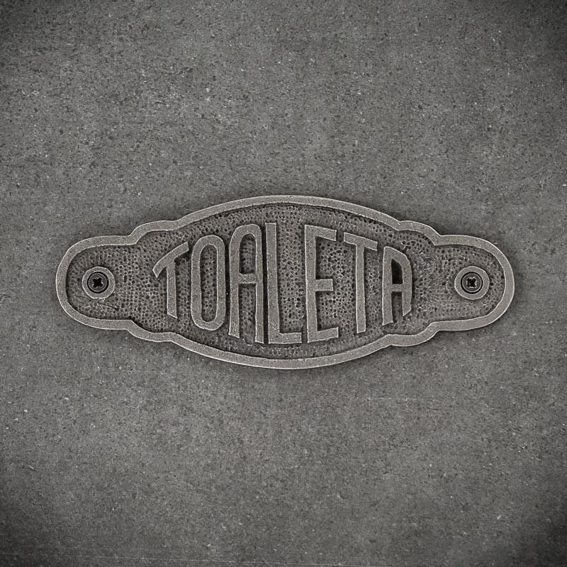 Tabliczka dekoracyjna żeliwna TOALETA
