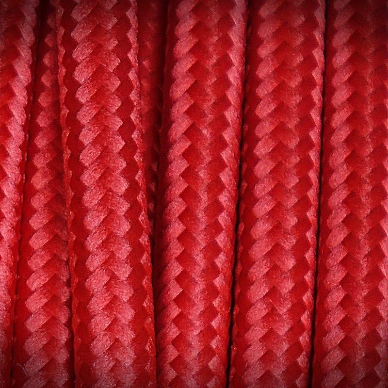przewód retro w opllocie czerwony