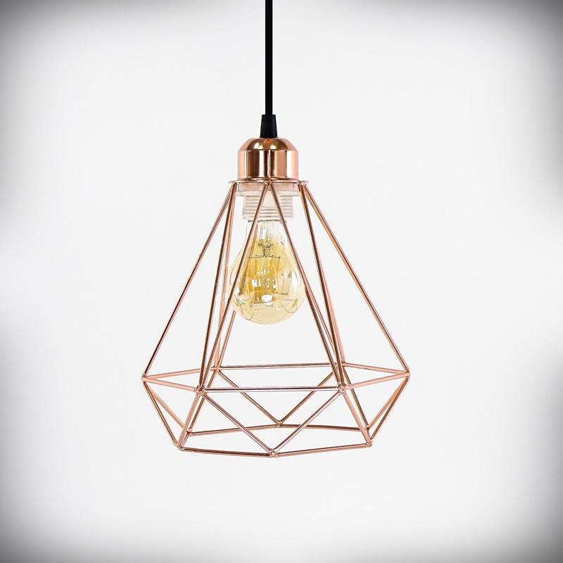 Lampa sufitowa E27 GRACE miedziana