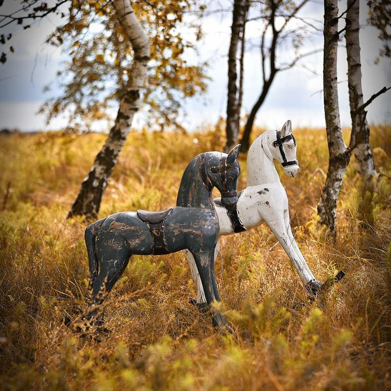 Drewniany koń na biegunach M