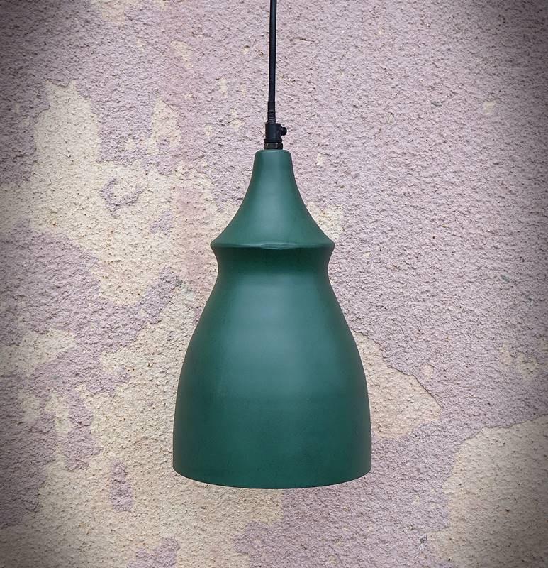 Lampa sufitowa L JONATHAN zielona