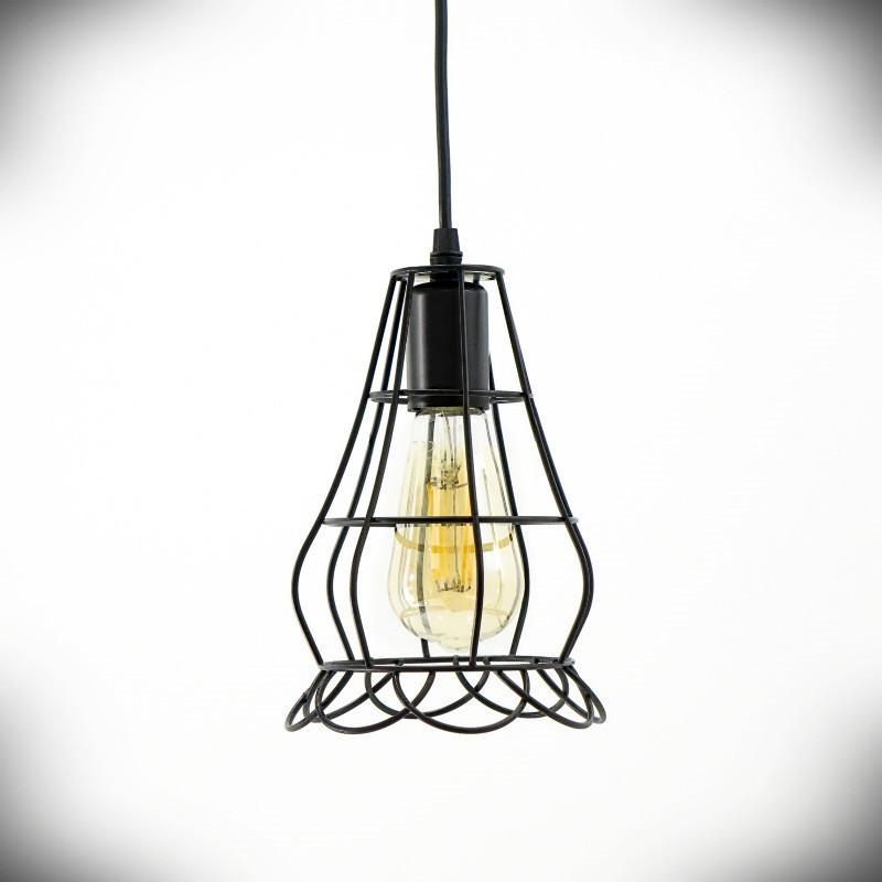 Lampa sufitowa E27 LOLA czarna