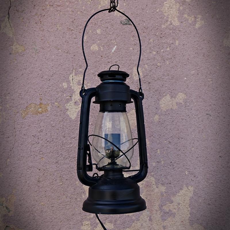 Lampa retro stojąca lub wisząca NAFTOWA