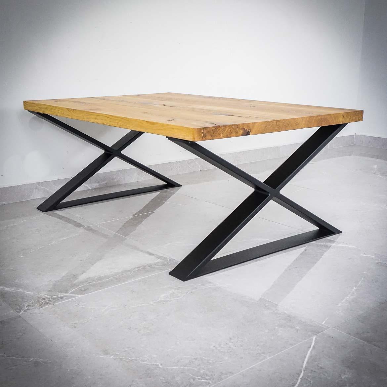 Industrialne nogi do stolików, ław, ławek typu X