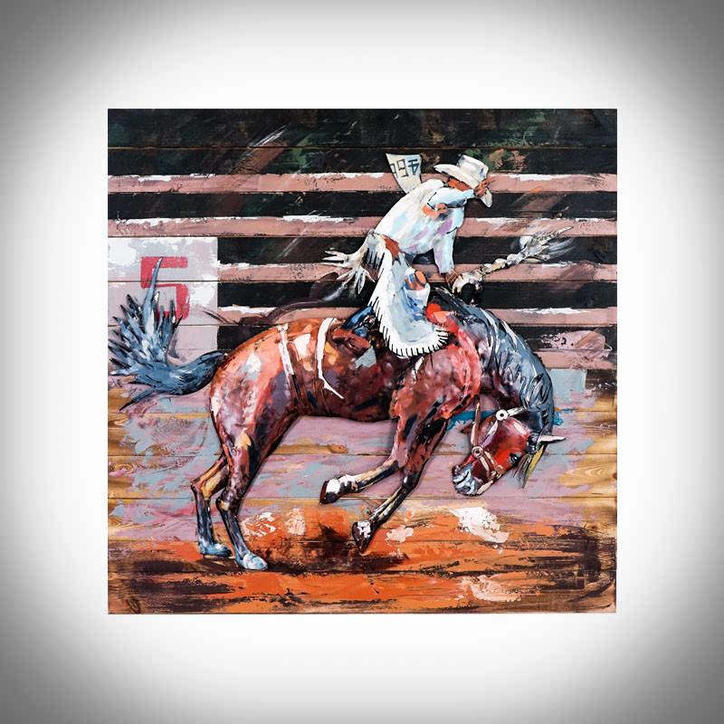 jeżdziec konny rodeo obraz 3d