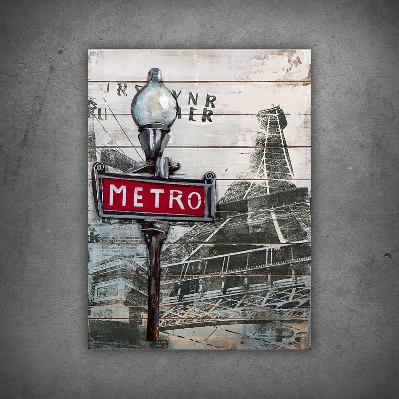 Obraz 3d metro
