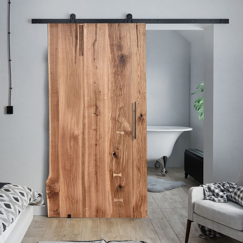 Drzwi przesuwne dębowe ONE BOARD NA WYMIAR