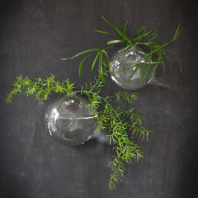 Szklana kula/wazon do powieszenia KLING