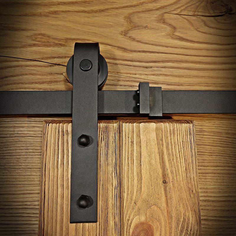 Prowadnica drzwi przesuwnych czarna OLD