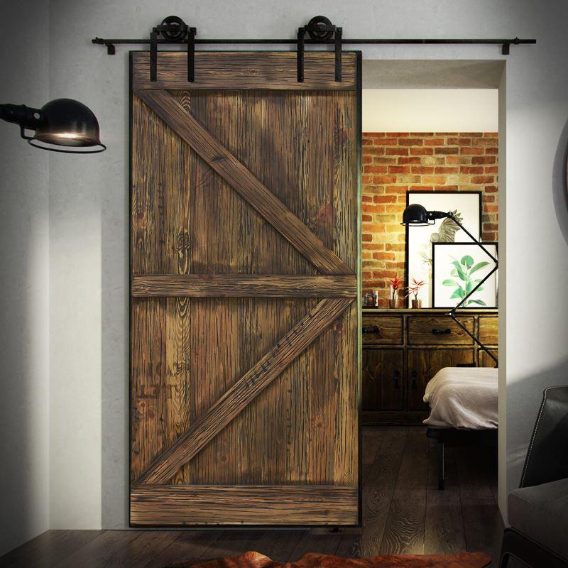 Drzwi na prowadnicy stalowej Barn Doors