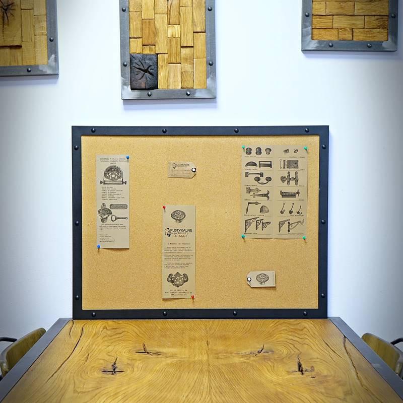 Tablica korkowa loft