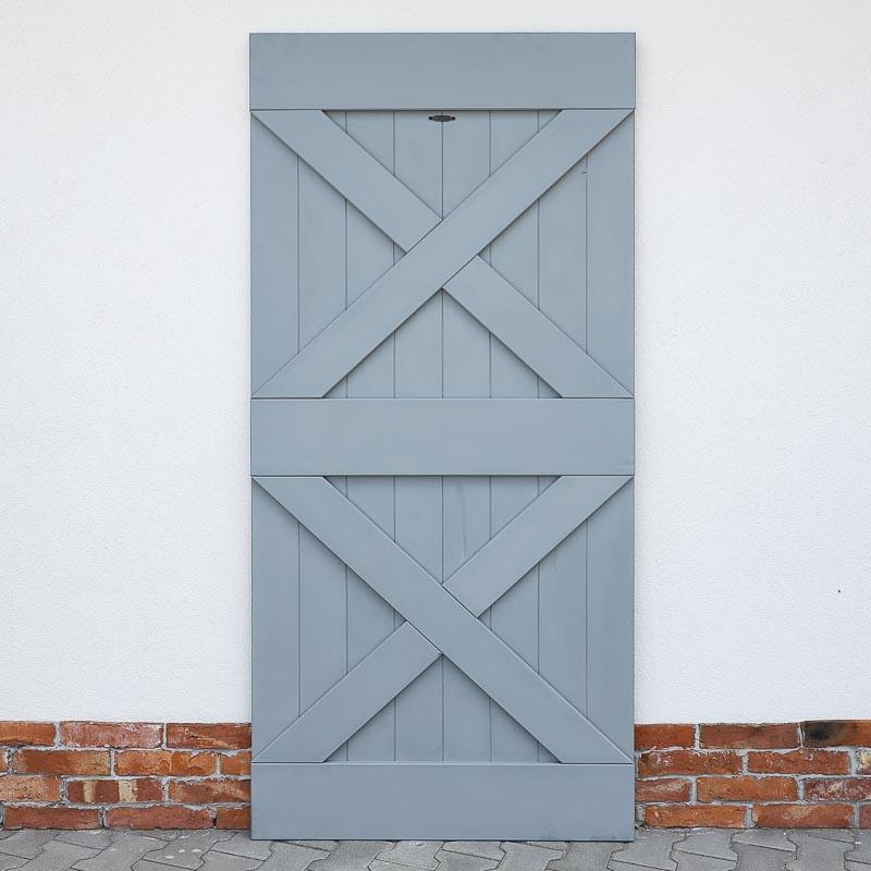 Drzwi przesuwne drewniane sosnowe FOREST - 2X - WYPRZEDAŻ