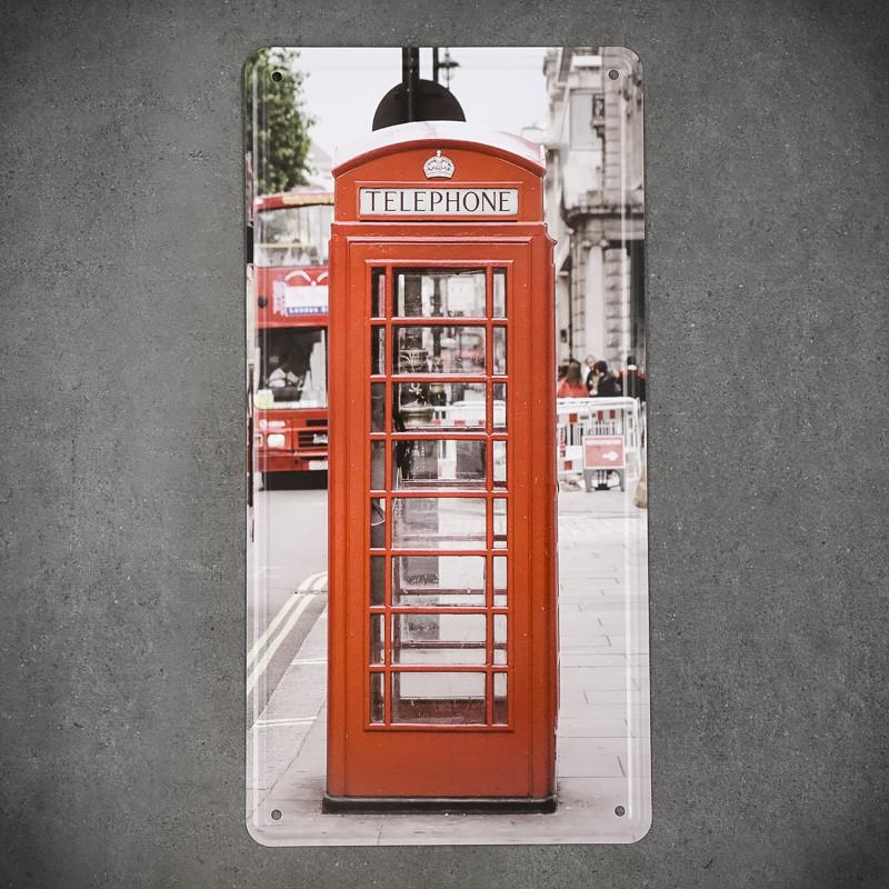 Tabliczka dekoracyjna metalowa BUDKA TELEFONICZNA Z LONDYNU 1
