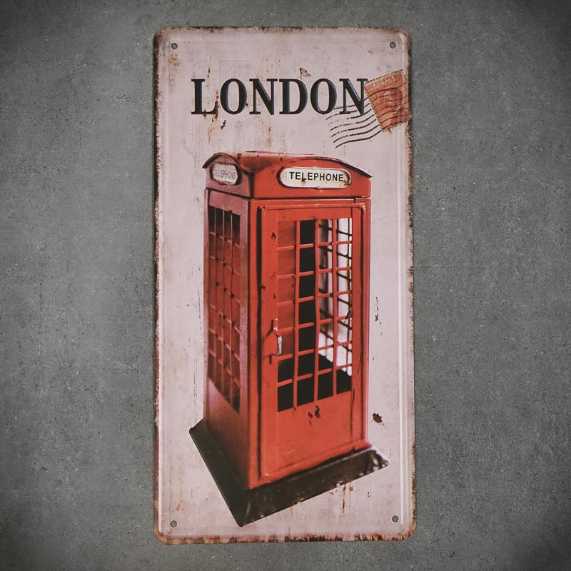 Tabliczka dekoracyjna metalowa BUDKA TELEFONICZNA Z LONDYNU 2
