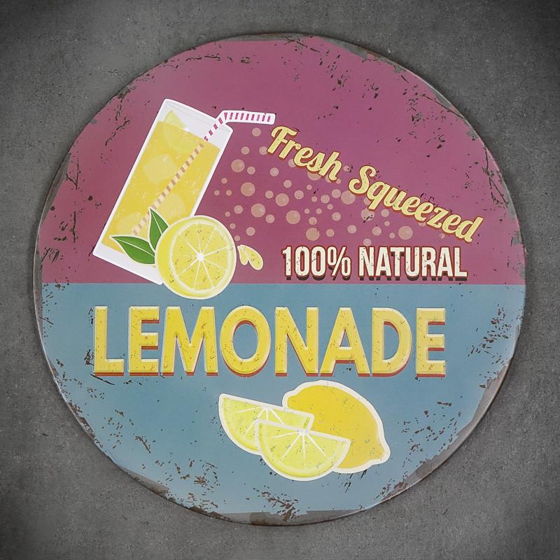 tabliczka z lemoniadą