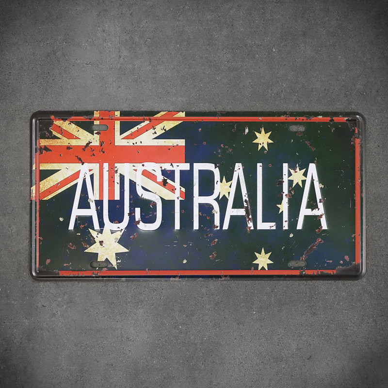 Tabliczak metalowa australia