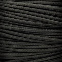 Przewód, kabel elektryczny w oplocie 2x0,75 Czarny