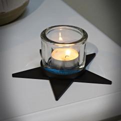 Metalowy świecznik niski