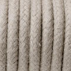 Przewód elektryczny w oplocie bawełnianym 3x0,75