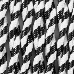 Przewód w oplocie skrecany zebra