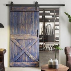 Drzwi przesuwne drewniane w ramie stalowej VILLAGE
