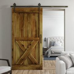Drzwi przesuwne drewniane dębowe BARN