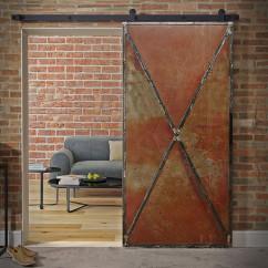 Drzwi przesuwne stalowe RUSTY METAL