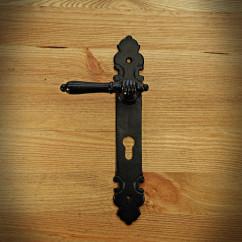 Klamka do drzwi DŁOŃ 72 wkład czarna