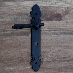 Klamka do drzwi DŁOŃ 72 klucz czarna