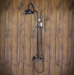 Zestaw prysznicowy naścienny DERBY czarny