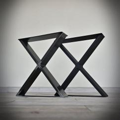 Industrialna noga do ławki, taboretu typu X (40x45cm)