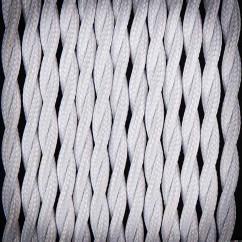 Kabel przewód elektryczny w oplocie poliestrowym 02 BIAŁY 2x0,75