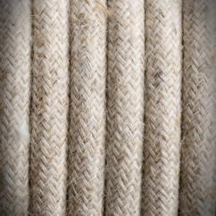 Retro przewód, kabel elektryczny w oplocie lnianym 2x0,75 L01