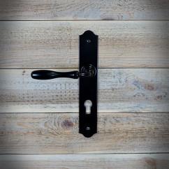 Klamka BRISTOL z szyldem na wkładkę