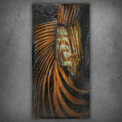 Obraz metalowy 3D LOFT NATURA ZEBRA