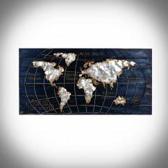 mapa świata obraz 3d