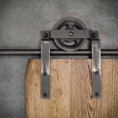 Prowadnica ścienna do drzwi jednoskrzydłowych stal grafit BARN DOORS
