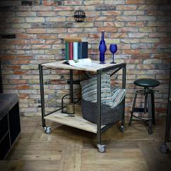Regał, stolik, biurko, wyspa industrialna IRON 80x85