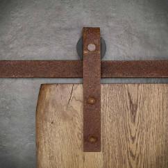 Rustyklana prowadnica drzwi