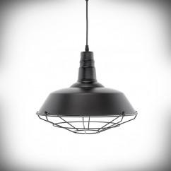 Lampa sufitowa E27 NUKSO czarna