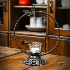 świecznik stojak żeliwny rusałka
