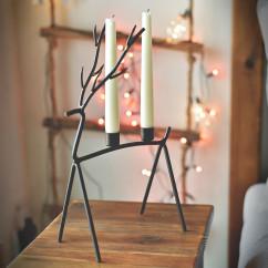 Świecznik na 2 świeczki JELEŃ