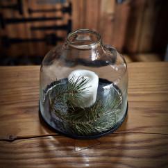 Świecznik szklany LATARNIA